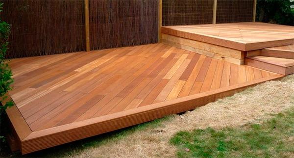 aplicacao deck jardim:Deck com Olio per decking e cera Brilho+ deck